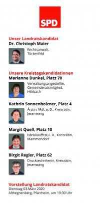 Die Kandidatinnen und Kandidaten für den Kreistag